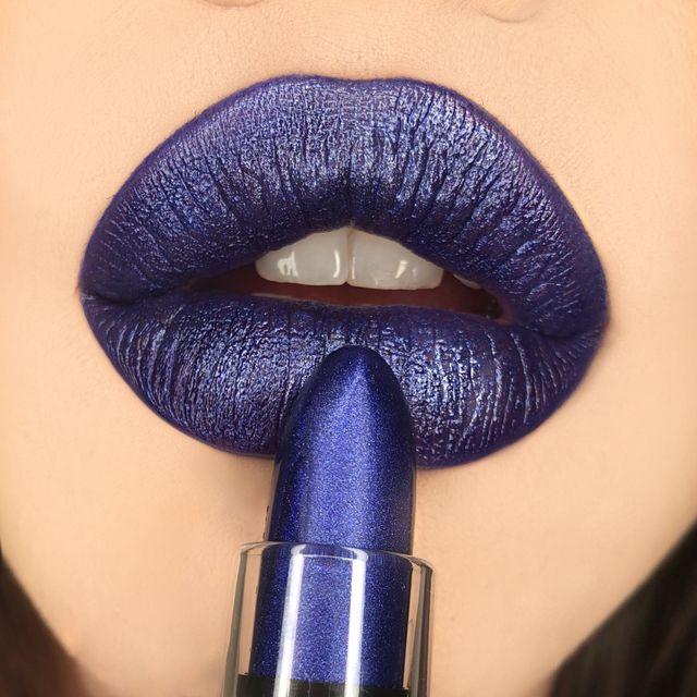 Metallic Lipstick Blue Flame